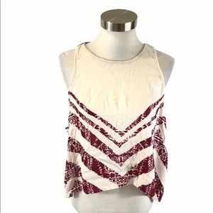 Free People Touch of Love Tank Top Side Tie Med